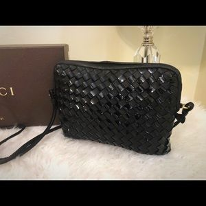 Bally Woven Leather Crossbody Bag